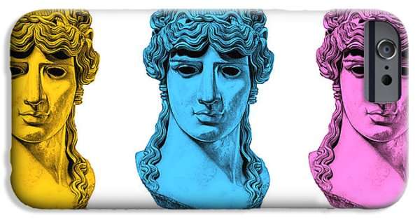 Bust Sculptures iPhone Cases - Antinous _ V7 iPhone Case by Bruce Algra