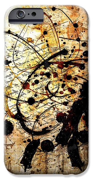 Modern Abstract iPhone Cases - Antiqua iPhone Case by Gary Bodnar