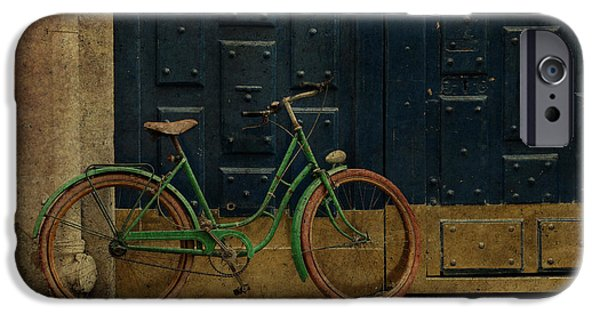 Michelin iPhone Cases - Antique Bicycle 1c iPhone Case by Andrew Fare