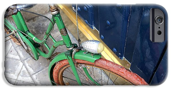 Michelin iPhone Cases - Antique Bicycle 2 iPhone Case by Andrew Fare
