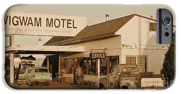 Old Cars iPhone Cases - Antique Collectable Sepia Photograph of Americana iPhone Case by John Malone