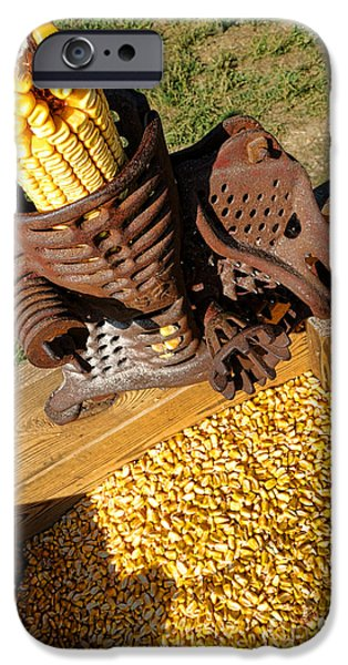Operating iPhone Cases - Antique Corn Sheller iPhone Case by Olivier Le Queinec