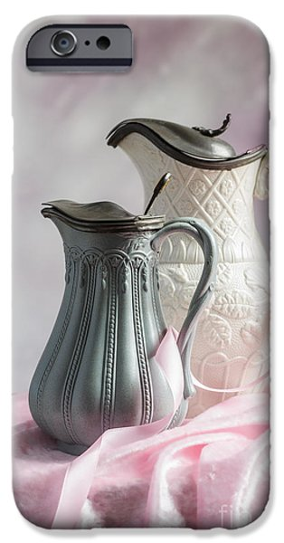 Pottery Pitcher iPhone Cases - Antique Jugs iPhone Case by Amanda And Christopher Elwell