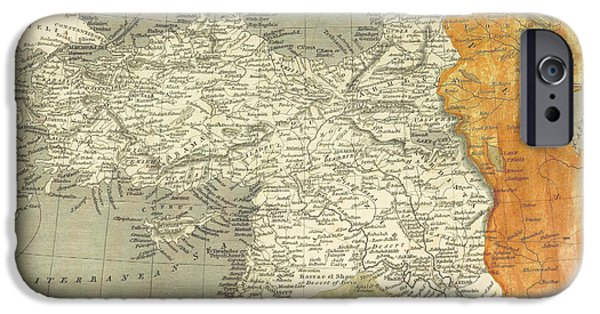 Iraq Paintings iPhone Cases - Antique map of Turkey iPhone Case by Celestial Images