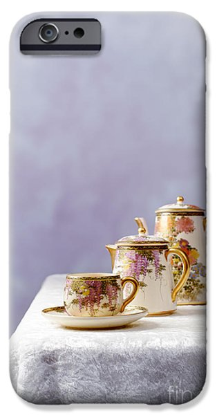 Antiques iPhone Cases - Antique Oriental Teaset iPhone Case by Amanda And Christopher Elwell