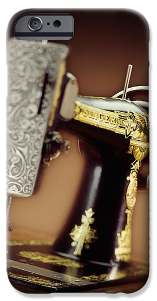 Antique Singer Sewing Machine 2 iPhone Case by Kelley King