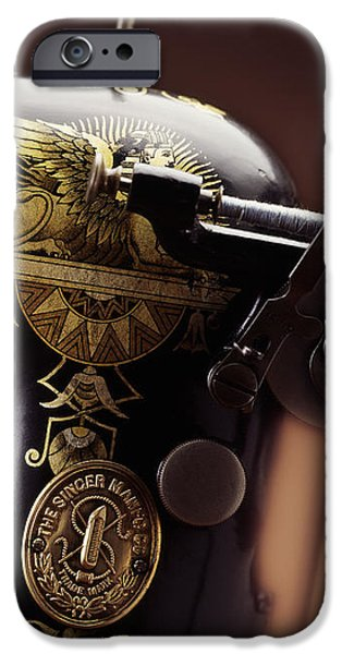 Antique Singer Sewing Machine 4 iPhone Case by Kelley King
