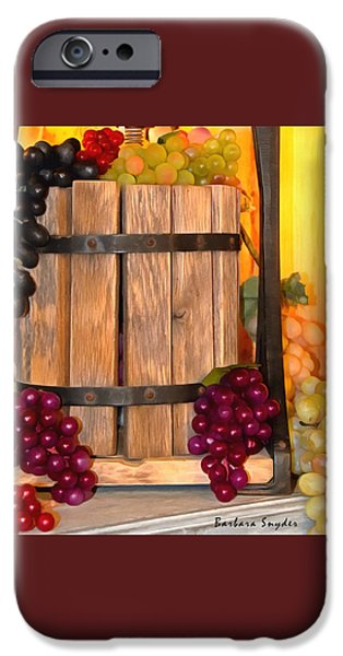 Vineyard Photograph iPhone Cases - Antique Store Wine Press Small iPhone Case by Barbara Snyder