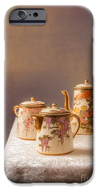 Antiques iPhone Cases - Antique Teaset iPhone Case by Amanda And Christopher Elwell