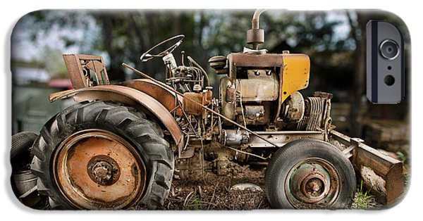 Antique Cars iPhone Cases - Antique Tractor iPhone Case by Yo Pedro