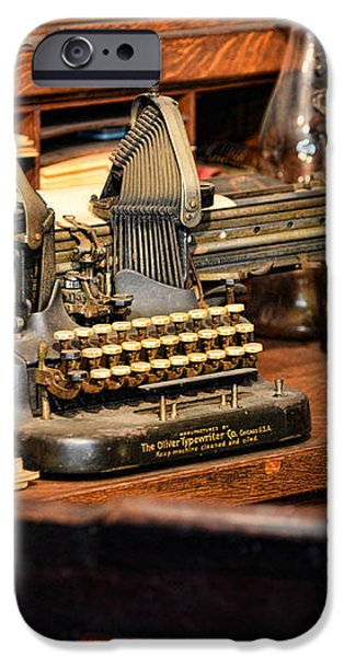 Antique Typewriter iPhone Case by Paul Ward