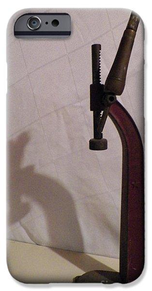 Wine Bottles iPhone Cases - Antique Wine Bottle Capper iPhone Case by Gina Sullivan