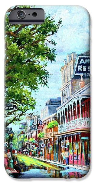 Royal Paintings iPhone Cases - Antoines iPhone Case by Dianne Parks