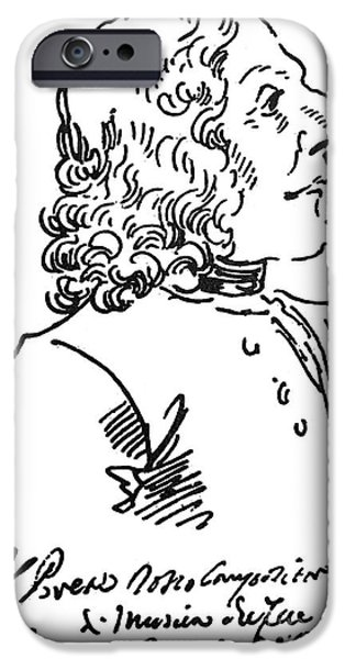 Autographed Photographs iPhone Cases - ANTONIO VIVALDI (c1675-1741) iPhone Case by Granger
