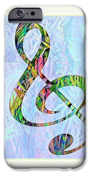 Music Drawings iPhone Cases - Any Kind of Music Will Do iPhone Case by Mindy Newman