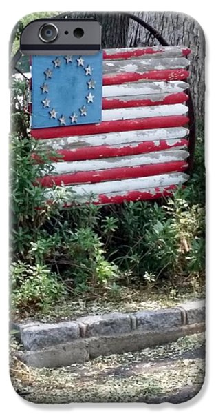 Old Glory iPhone Cases - Any Street Corner U. S. A. iPhone Case by Rob Hans