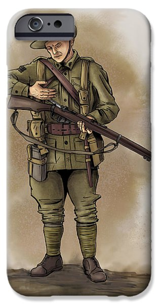 Wwi iPhone Cases - Anzac iPhone Case by Matt James