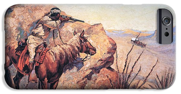History iPhone Cases - Apache Ambush iPhone Case by Frederic Remington