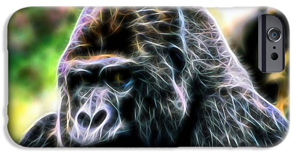 Gorilla iPhone Cases - Ape Collection iPhone Case by Marvin Blaine
