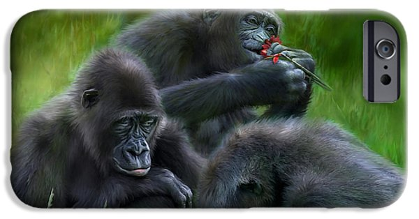 Ape iPhone Cases - Ape Moods iPhone Case by Carol Cavalaris