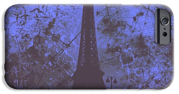 Creepy iPhone Cases - Apocalyptic Garden Party Eiffel Tower 55 iPhone Case by Marina McLain