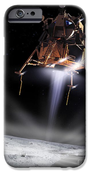 Collins iPhone Cases - Apollo 11 Moon Landing iPhone Case by Detlev Van Ravenswaay and Photo Researchers