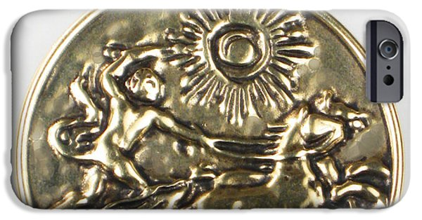 Handcrafted Jewelry iPhone Cases - Apollo and his Chariot to the Sun - Bronze Pendant iPhone Case by Virginia Vivier -  Esprit Mystique