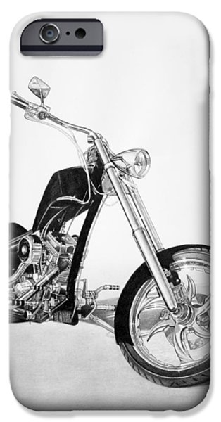 Graphite Drawing Drawings iPhone Cases - Apollo Chopper iPhone Case by Tim Dangaran