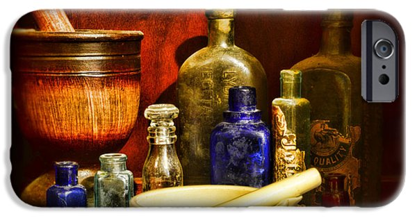Old Grinders iPhone Cases - Apothecary - Tools of the Pharmacist iPhone Case by Paul Ward