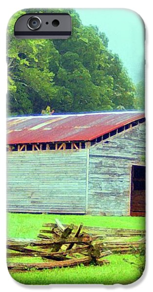 Appalachian Livestock Barn iPhone Case by Desiree Paquette