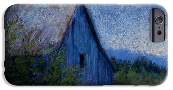 Barn Landscape Pastels iPhone Cases - Appalachian Morning iPhone Case by Susan Jenkins
