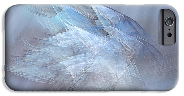 Abstract Digital Photographs iPhone Cases - Apparitions Rising iPhone Case by Jan Tyler