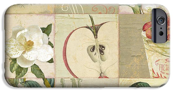 Apple Orchard iPhone Cases - Apple Blossoms Patchwork I iPhone Case by Mindy Sommers