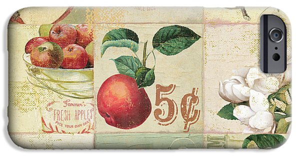 Apple Orchard iPhone Cases - Apple Blossoms Patchwork II iPhone Case by Mindy Sommers