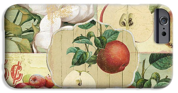 Apple Orchard iPhone Cases - Apple Blossoms Patchwork IV iPhone Case by Mindy Sommers