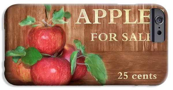 Farm Stand iPhone Cases - Apples For Sale iPhone Case by Lori Deiter