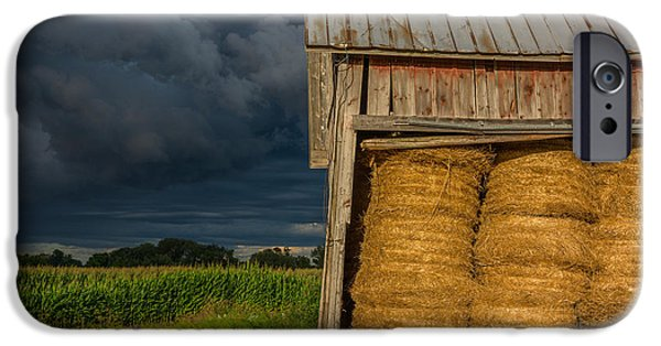 Old Barns iPhone Cases - Approaching Storm  iPhone Case by Pravin  Sitaraman