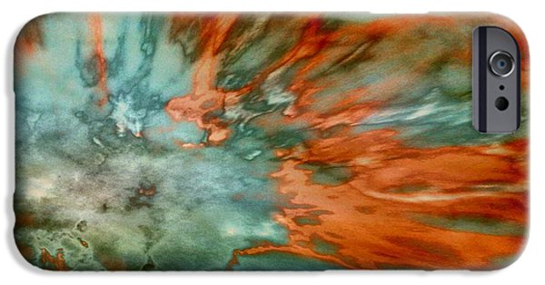 Abstract Digital Paintings iPhone Cases - Apricot Surge iPhone Case by TLynn Brentnall