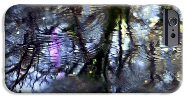 Trees Reflecting In Water iPhone Cases - April Showers 2 iPhone Case by Dale   Ford