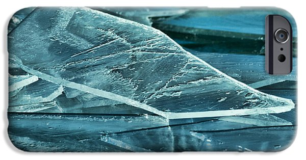 Sheets iPhone Cases - Aqua Ice iPhone Case by Bill Kesler