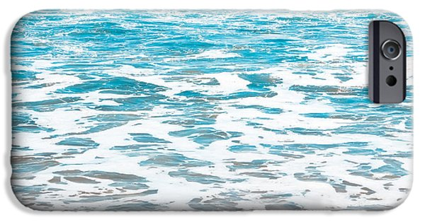 States iPhone Cases - Aqua Surf iPhone Case by Colleen Kammerer