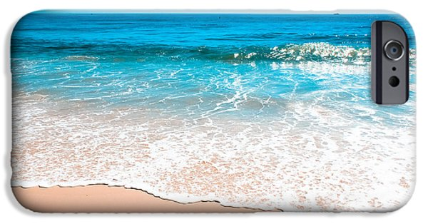 States iPhone Cases - Aquamarine Island Beach iPhone Case by Colleen Kammerer