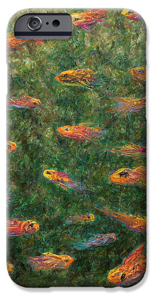Aquarium Fish iPhone Cases - Aquarium iPhone Case by James W Johnson