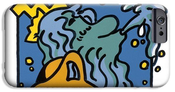 Stellar iPhone Cases - Aquarius iPhone Case by Detlev Van Ravenswaaylutz Lange