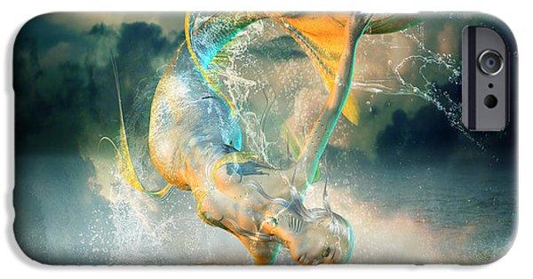 Mermaids iPhone Cases - Aquatica iPhone Case by Karen K