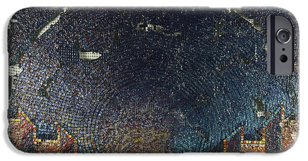 Arial View Paintings iPhone Cases - Aquatorium iPhone Case by Mark Howard Jones