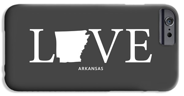 Arkansas iPhone Cases - AR Love iPhone Case by Nancy Ingersoll