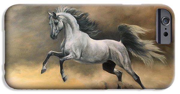 Arabian Paintings iPhone Cases - Arabian iPhone Case by Jeanne Newton Schoborg