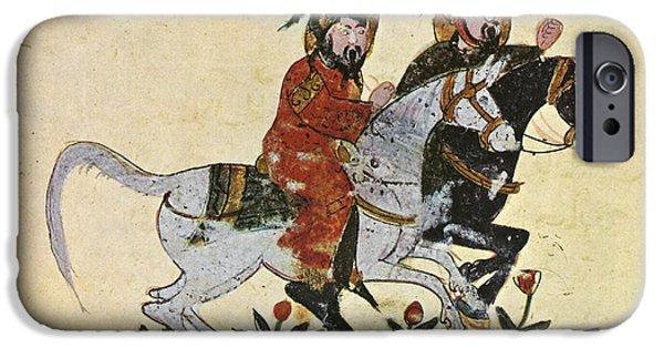 Baghdad Paintings iPhone Cases - Arabic Horseman 1210 iPhone Case by Granger