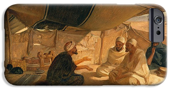 1871 iPhone Cases - Arabs in the Desert iPhone Case by Frederick Goodall